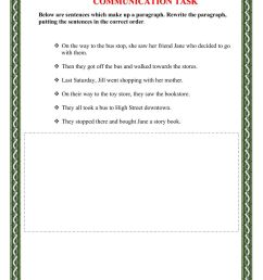 Sentence Sequencing worksheet [ 1291 x 1000 Pixel ]