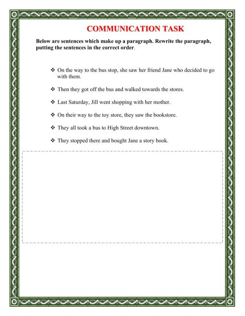 small resolution of Sentence Sequencing worksheet