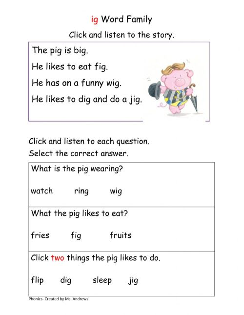 small resolution of Ig Word Family interactive worksheet