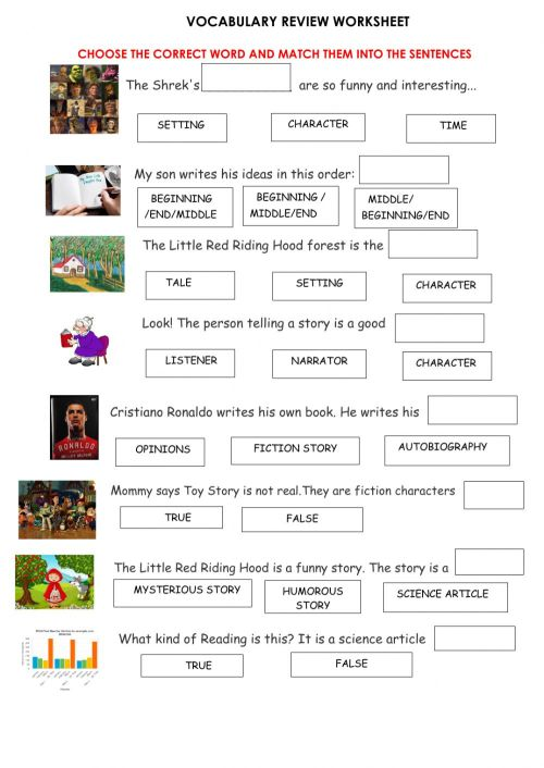 small resolution of Vocabulary 6th Grade Review worksheet