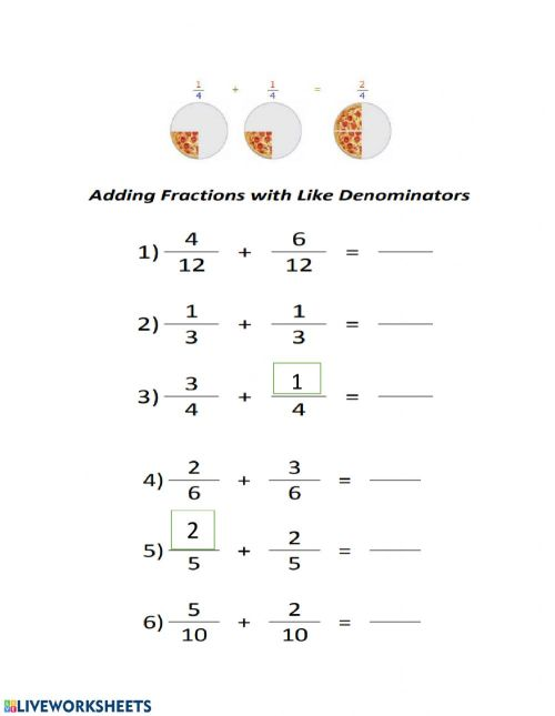 small resolution of Fractions Grade 3 worksheet