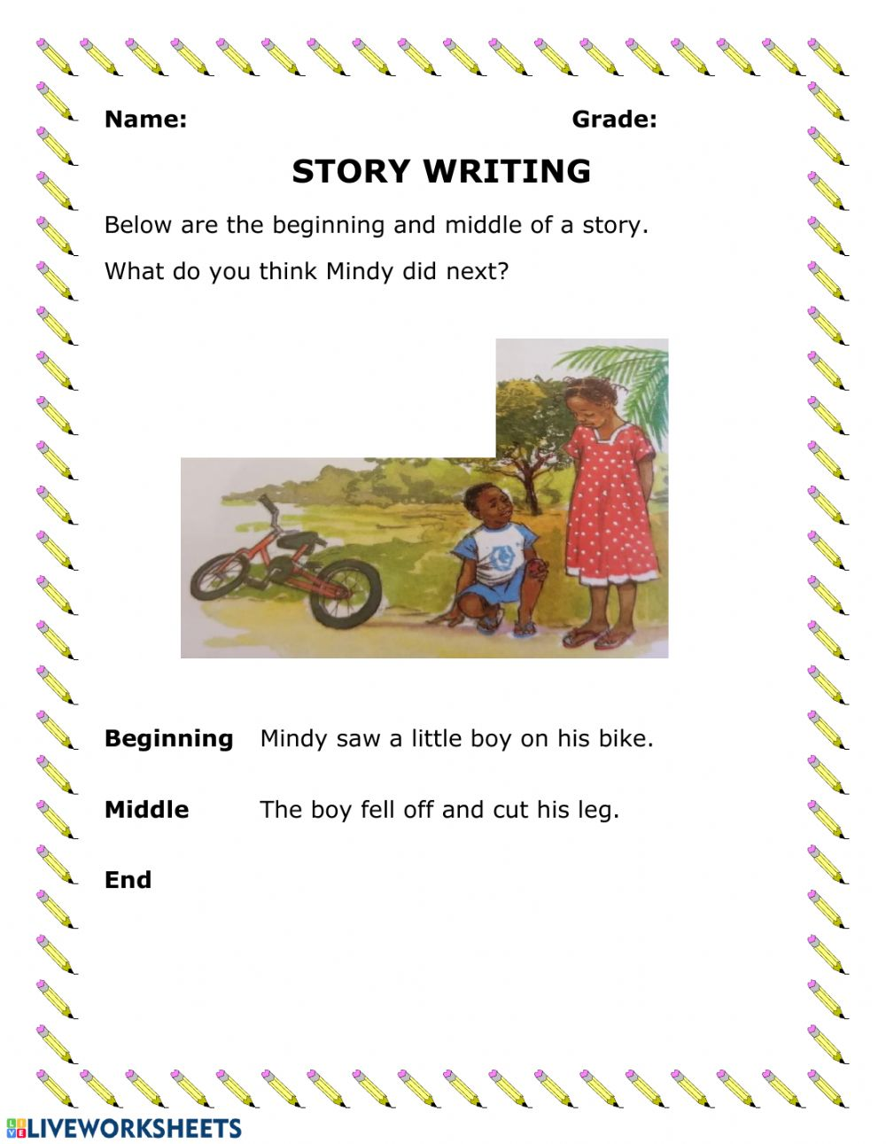 hight resolution of Story Writing worksheet