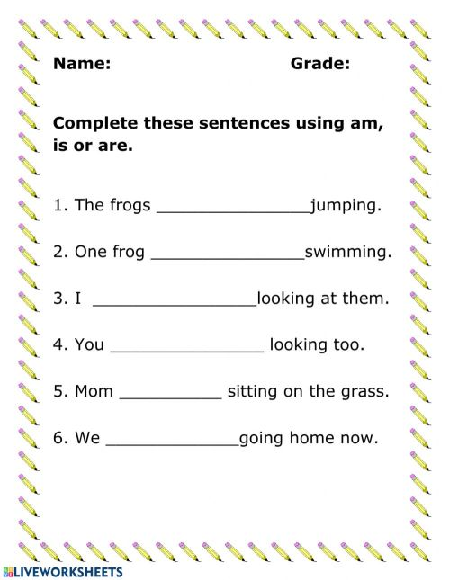 small resolution of Verbs online activity for Grade 1