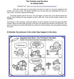 The Tortoise and the Hare picture sequencing worksheet [ 1413 x 1000 Pixel ]