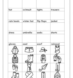 Clothes fo any weather worksheet [ 1413 x 1000 Pixel ]