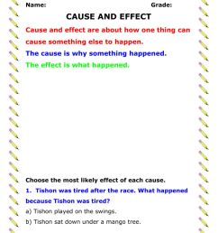 Cause and Effect activity [ 1291 x 1000 Pixel ]