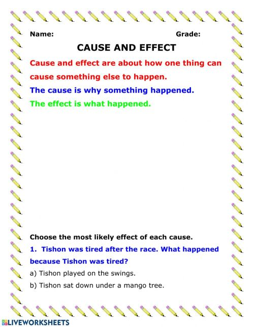 small resolution of Cause and Effect activity
