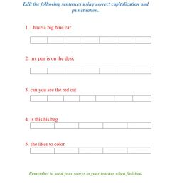 Capitalization and Punctuation worksheet [ 1291 x 1000 Pixel ]