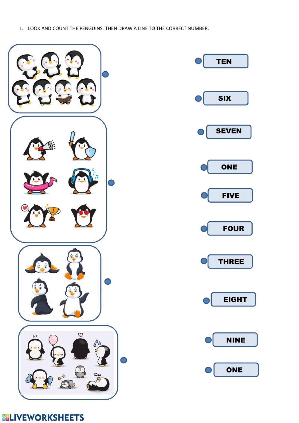medium resolution of Count the penguins worksheet