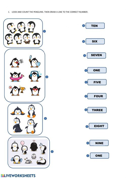 small resolution of Count the penguins worksheet