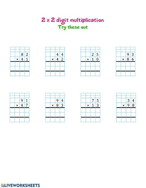 small resolution of 2 by 2 digit multiplication interactive worksheet