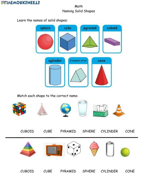 small resolution of Math Solid Shapes April 5th worksheet