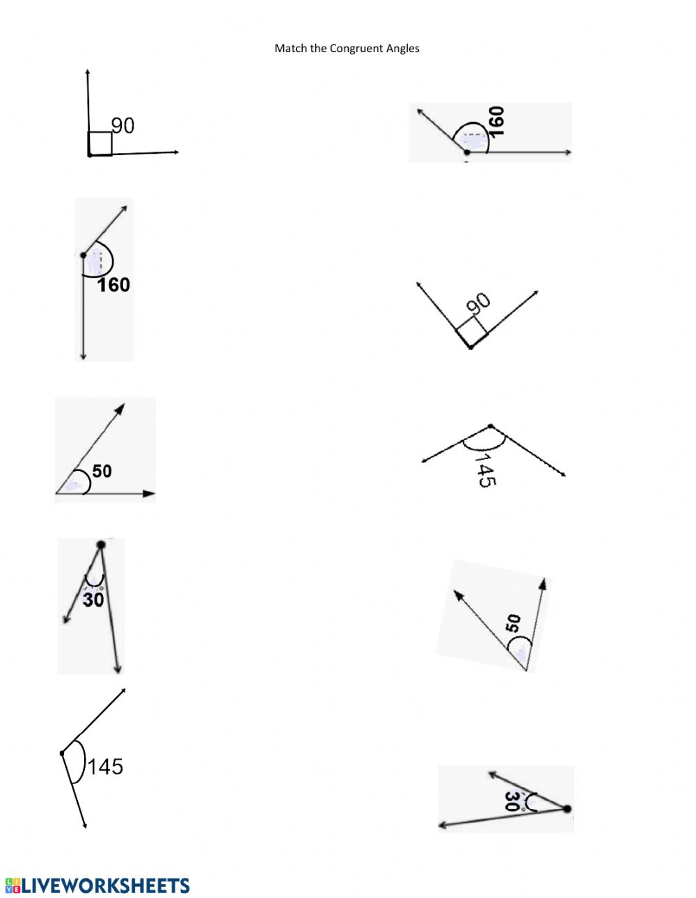 hight resolution of Congruent Angles worksheet