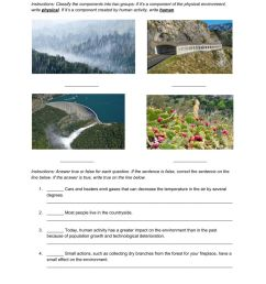 Natural Science 5th Grade ESL - People and the environment worksheet [ 1291 x 1000 Pixel ]