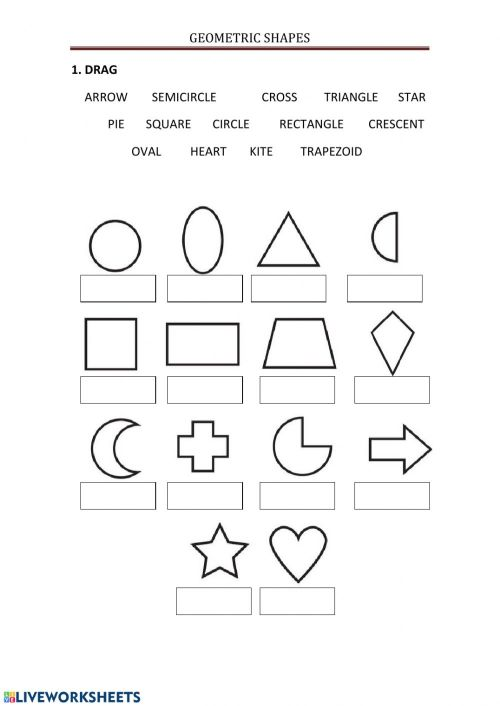 small resolution of Geometric shapes online worksheet