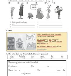 Characters worksheet for Grade 3 [ 1413 x 1000 Pixel ]