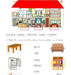 My house interactive worksheet for GRADE 1 [ 1413 x 1000 Pixel ]