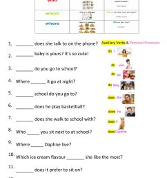 Relative pronoun questions (which-where-who) worksheet [ 1413 x 1000 Pixel ]