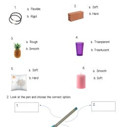 Properties of materials activity for 2ND GRADE [ 1413 x 1000 Pixel ]