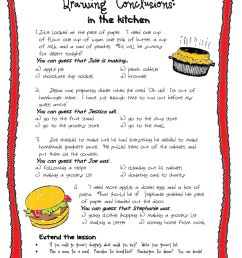 Drawing Conclusions: In the kitchen worksheet [ 1291 x 1000 Pixel ]