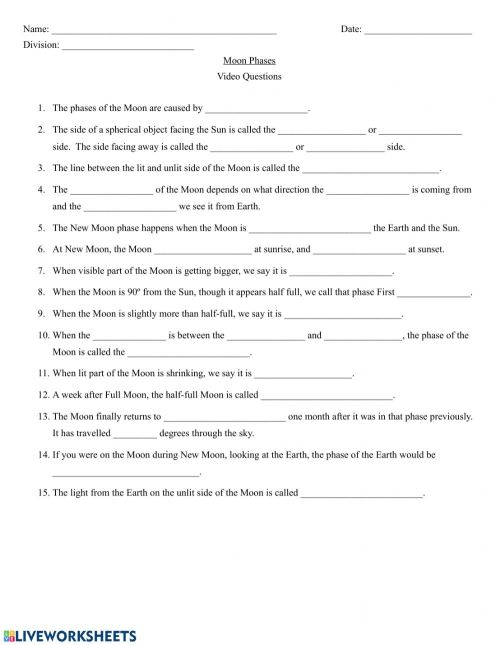 small resolution of Crash Course Astronomy - Moon Phases worksheet
