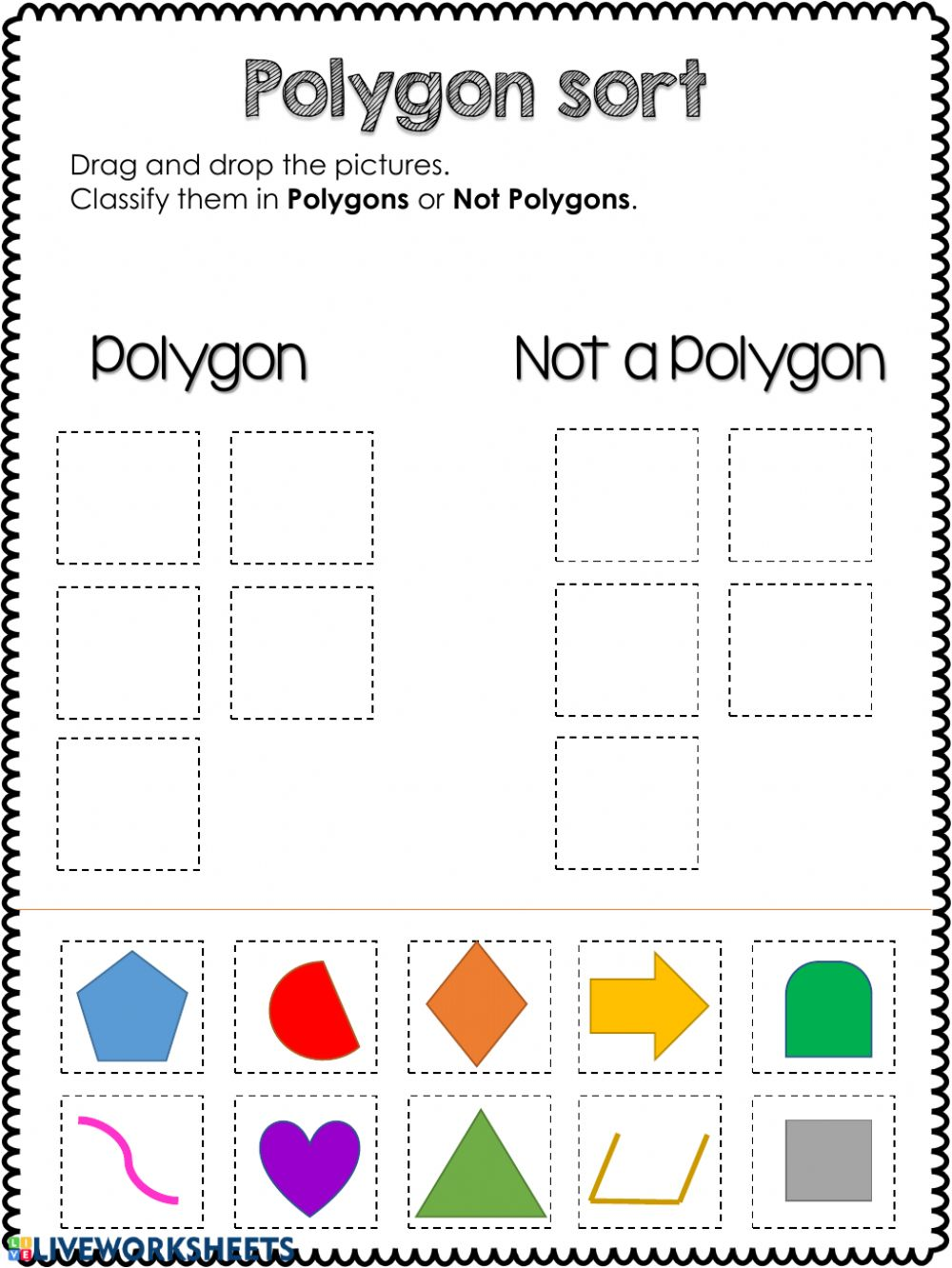 hight resolution of Polygon-Not a polygon worksheet