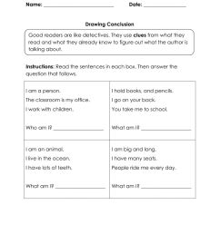 Draw Conclusion worksheet [ 1291 x 1000 Pixel ]