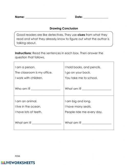 small resolution of Draw Conclusion worksheet