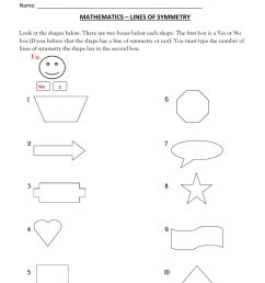 Find the Lines of Symmetry worksheet [ 1291 x 1000 Pixel ]