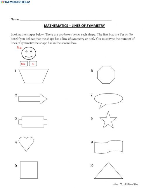 small resolution of Find the Lines of Symmetry worksheet
