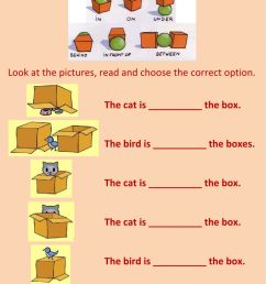 Prepositions of place worksheet for Grade 1 and 2 [ 1413 x 1000 Pixel ]