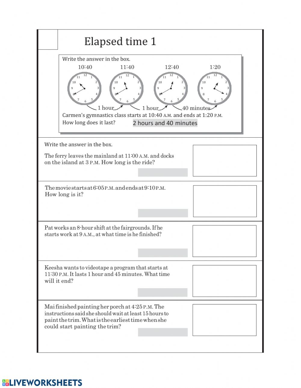 hight resolution of MA2-Friday (Elapsed time 1) worksheet