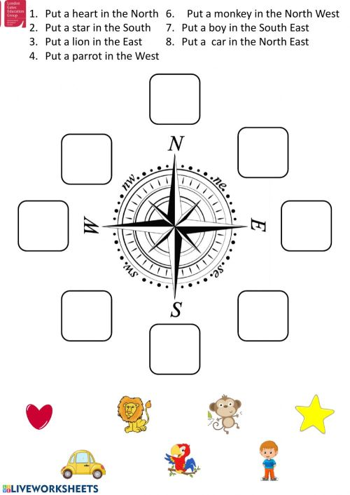 small resolution of Cardinal directions interactive worksheet