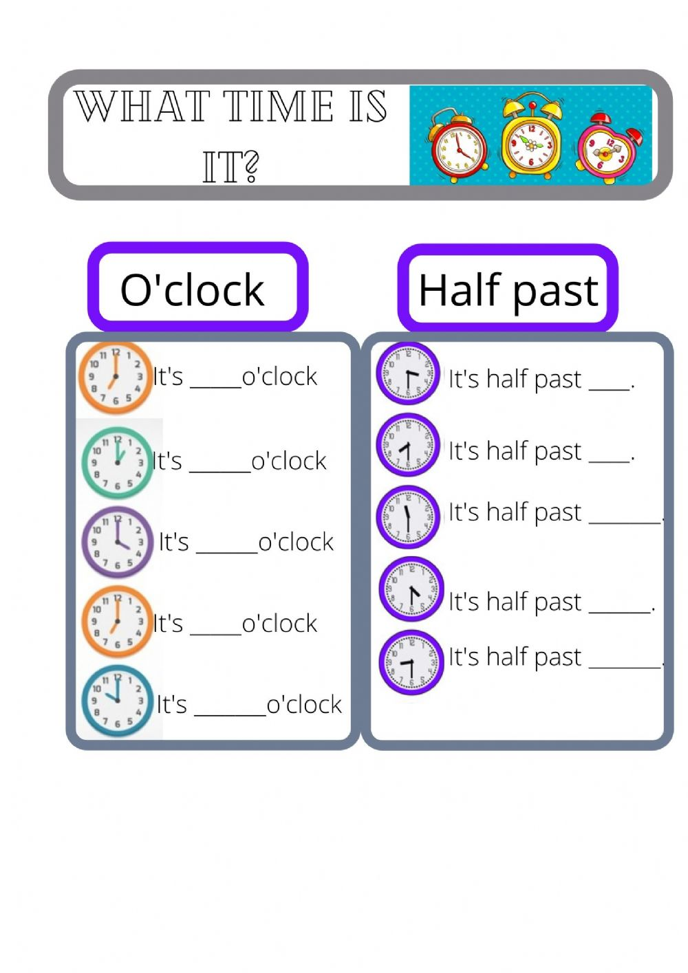 hight resolution of Time activity for year 3 / grade 3/ elementary level