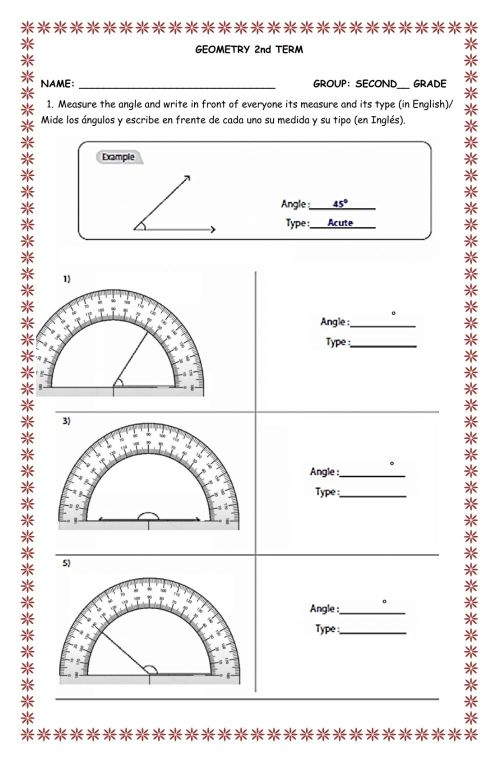 small resolution of Evaluation second term second grade Geometry worksheet