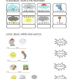 Weather and seasons activity for FIRST GRADE [ 1413 x 1000 Pixel ]