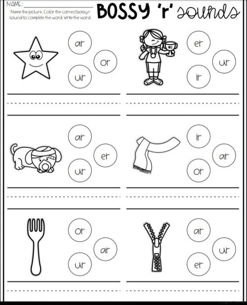 small resolution of Bossy R Sound Match 1 worksheet