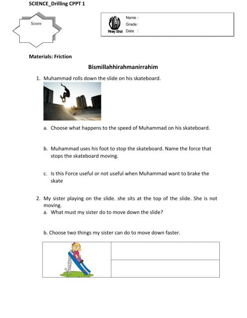small resolution of Friction 3 worksheet