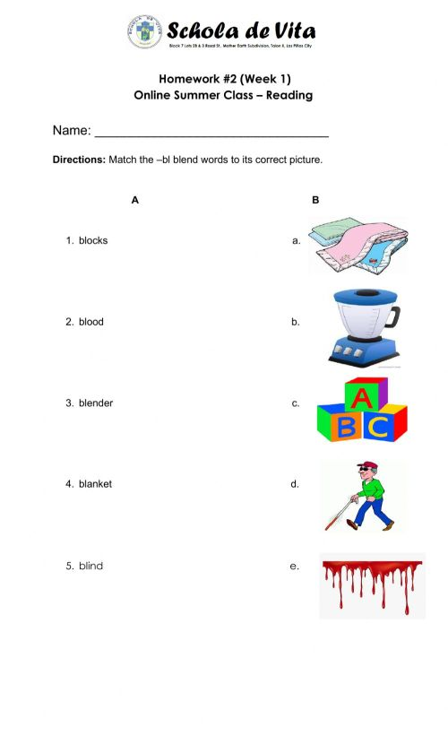 small resolution of Blend words worksheet