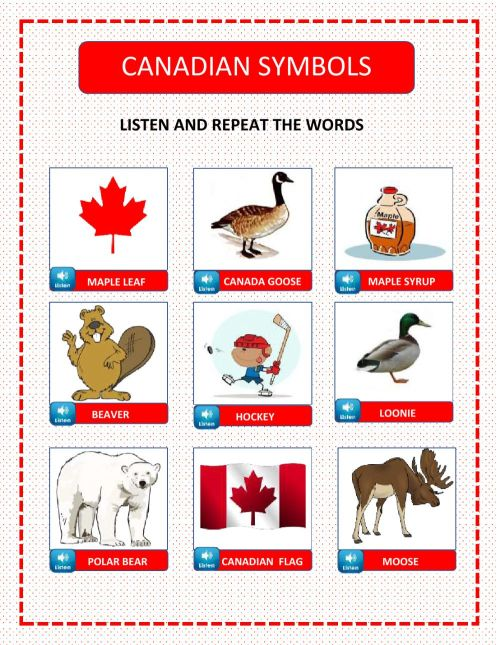 small resolution of Canadian symbols interactive worksheet
