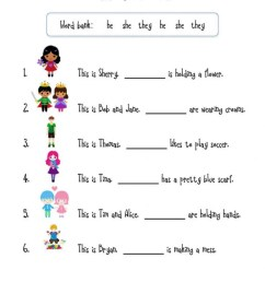 Pronouns online activity for first Grade [ 1293 x 1000 Pixel ]