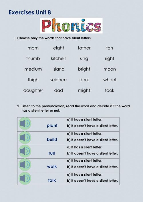 small resolution of Phonics activity for 4th grade