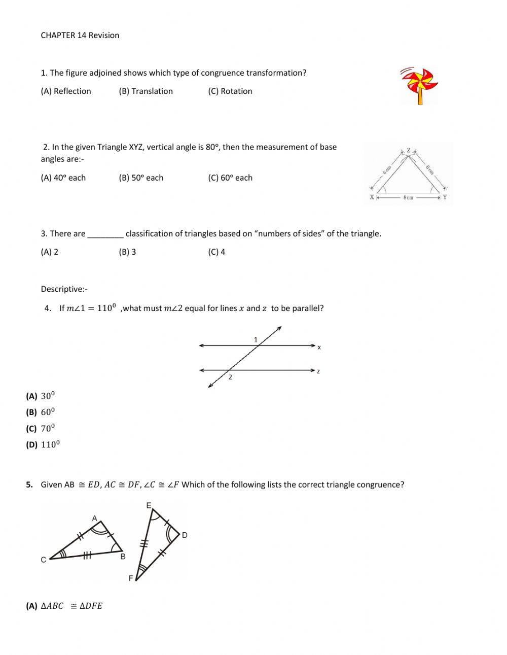 hight resolution of Grade 9 - Revision 1 worksheet