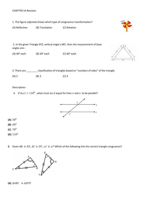 small resolution of Grade 9 - Revision 1 worksheet