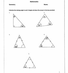 Missing angles in a triangle worksheet [ 1291 x 1000 Pixel ]