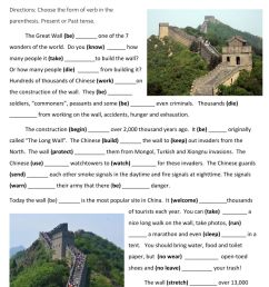 The Great Wall of China interactive worksheet [ 1291 x 1000 Pixel ]