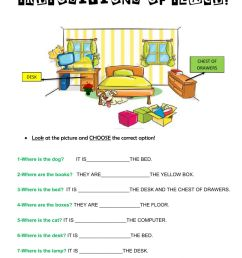 Prepositions of place online exercise for 3rd [ 1413 x 1000 Pixel ]