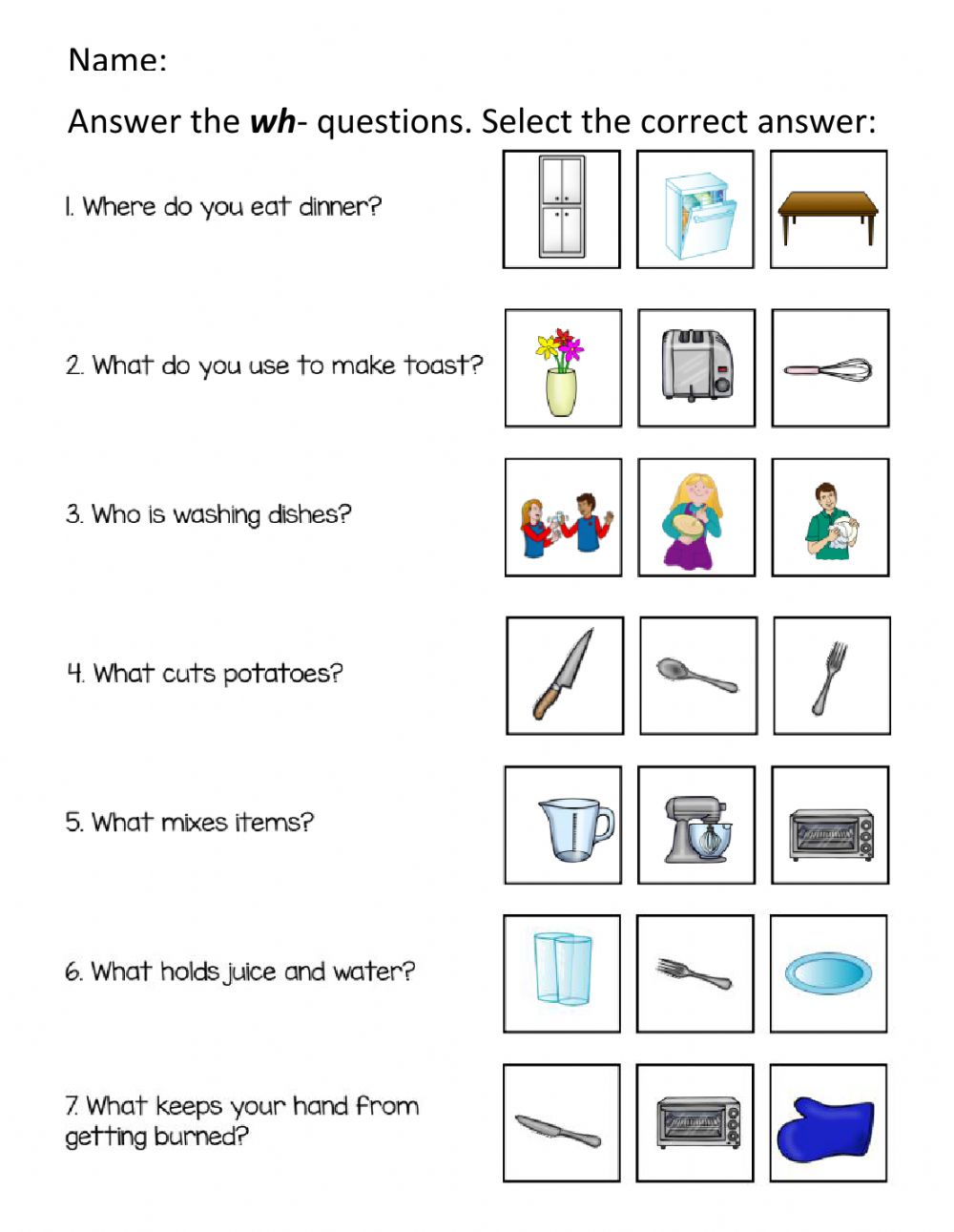 medium resolution of Answer the wh-Questions worksheet