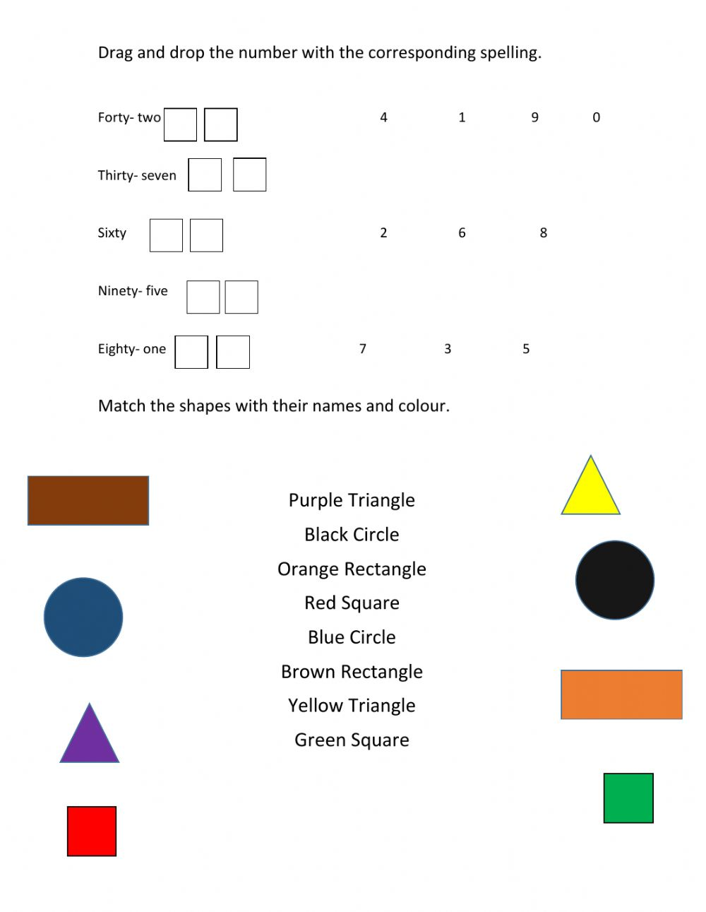 hight resolution of Shapes interactive exercise for 2nd Grade