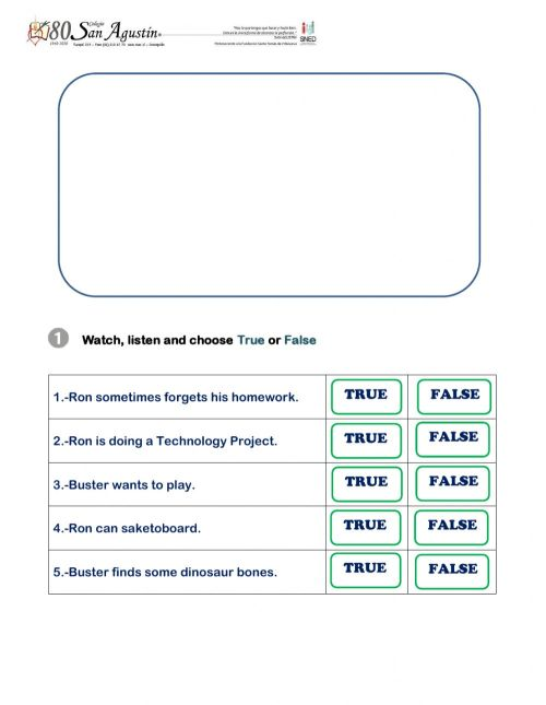 small resolution of Listening review fifth grade worksheet
